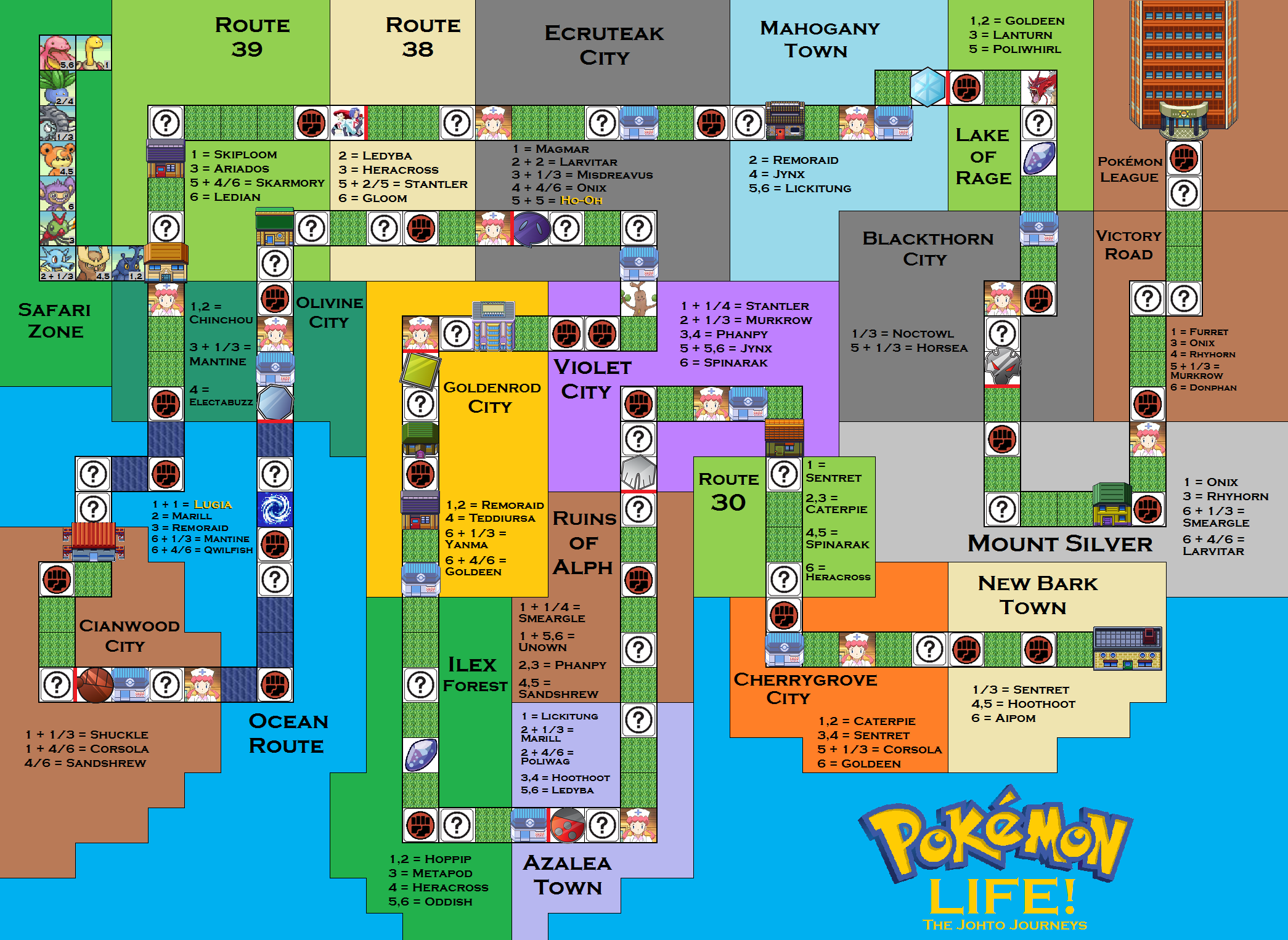 Pokemon Life Board Game